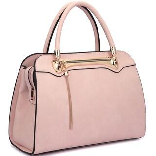 Dasein Fashion Goldtone Satchel Handbag (More options available)