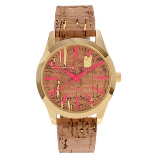 Geneva Platinum Women's Tree Bark Design Strap Watch