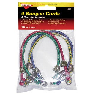 Keeper 06051 10-inch Mini Cord (Pack of 4)