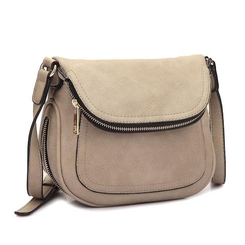 Dasein Front Flap Crossbody Handbag