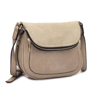 Dasein Front Flap Messenger Bag (Option: Stone)