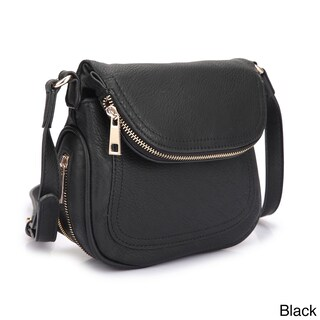 Dasein Front Flap Crossbody Handbag