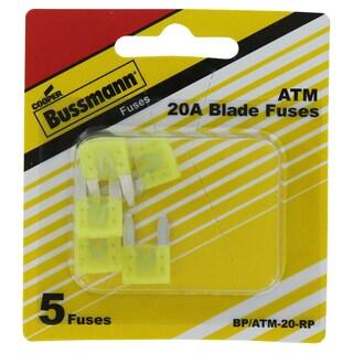Bussman BP/ATM-20 RP 20 Amp Mini Fuses 5-count