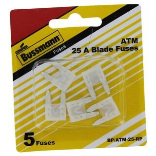 Bussman BP/ATM-25 RP 25 Amp Mini Fuses 5-count