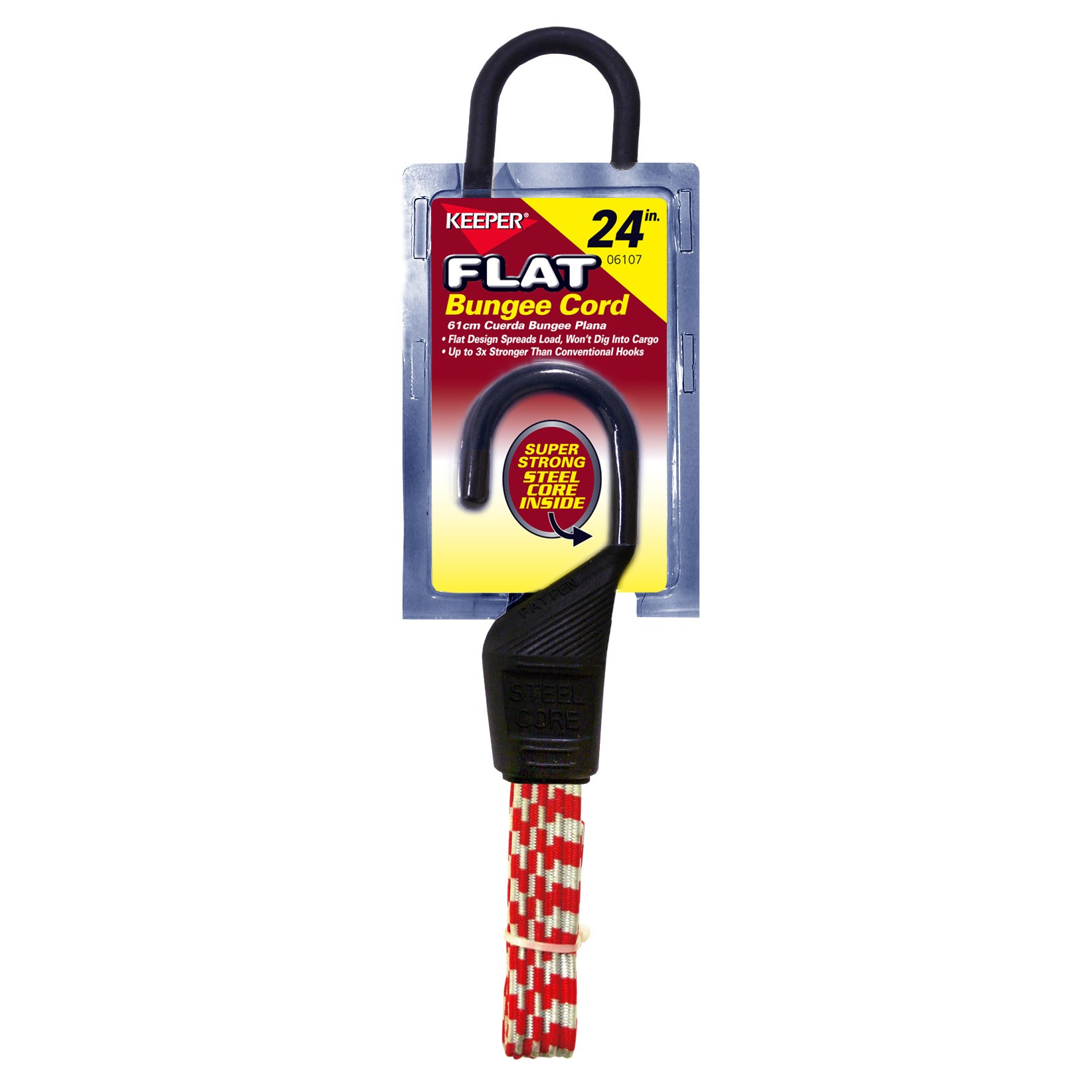 Keeper 06107 24-inch Flat Bungee Cord (Auto specialty), M...
