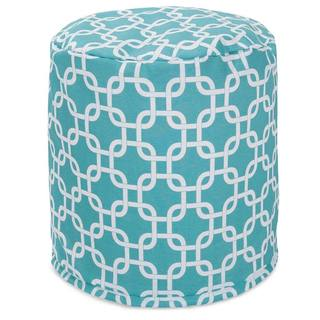 Teal Links Pouf