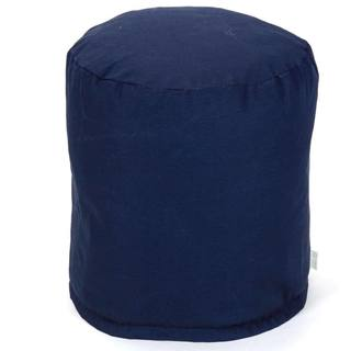 Majestic Home Goods Navy Blue Solid Pouf Outdoor Indoor