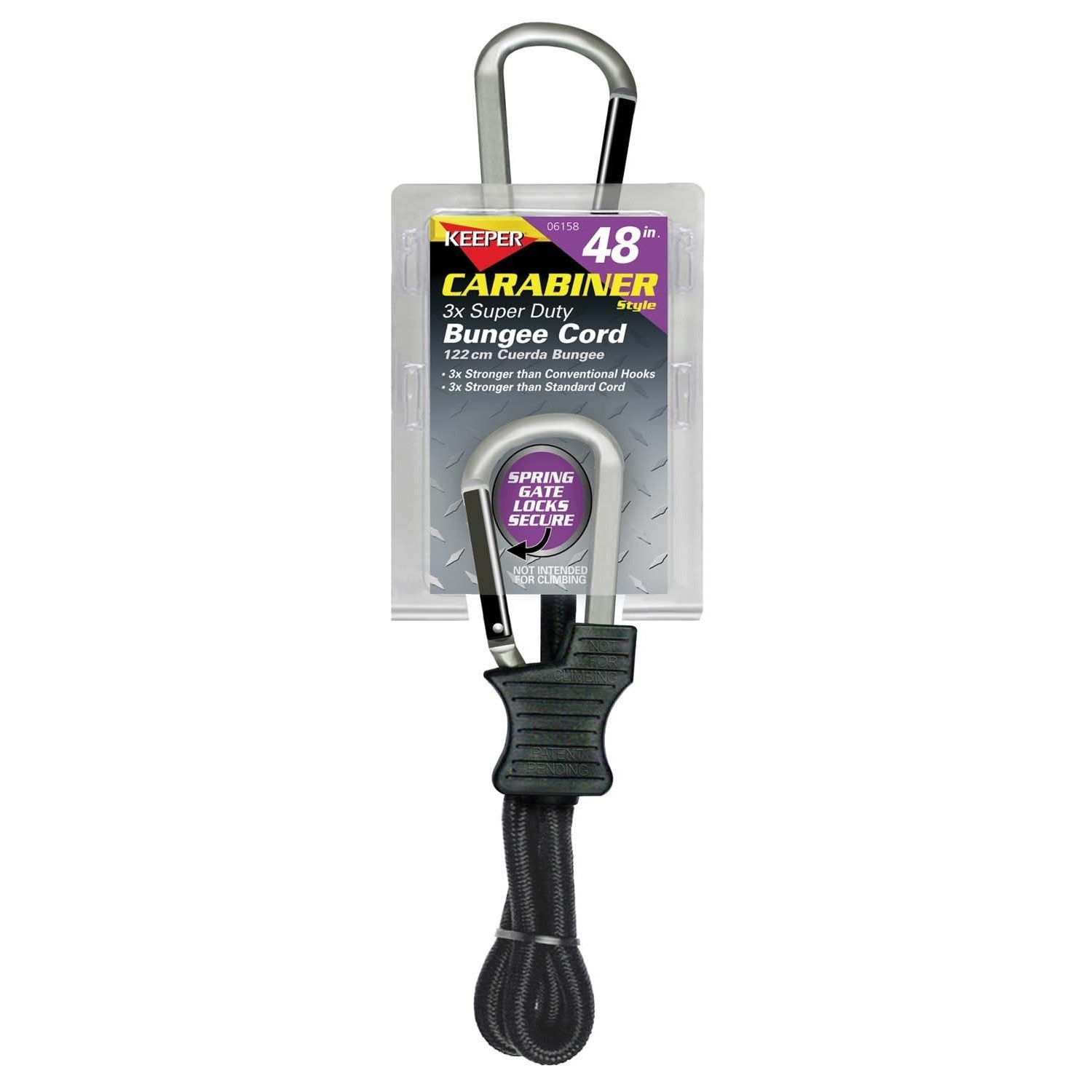 Keeper 06158 48-inch Carabiner Style Bungee Cord (Auto sp...