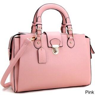Dasein Front Snap Lock Satchel Handbag