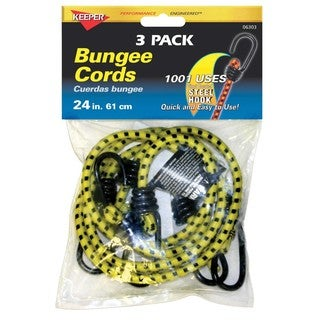 Keeper 06303 24-inch 3 Pack Bungee Cords