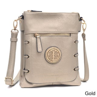 Dasein Gold-Tone Bow Messenger Bag