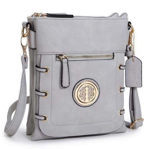 Dasein Gold-Tone Bow Messenger Bag