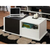 Furniture of America Curie Modern Two-Tone Storage Coffee Table with Sliding Top