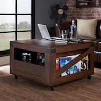 Furniture of America Kala Square Vintage Walnut Coffee Table