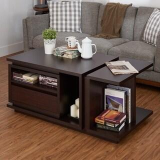 Furniture of America Emi Modern Walnut 47-inch Wood Coffee Table