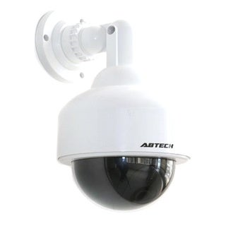 Abtech Outdoor Fake Security Camera Dome With Blinking Light
