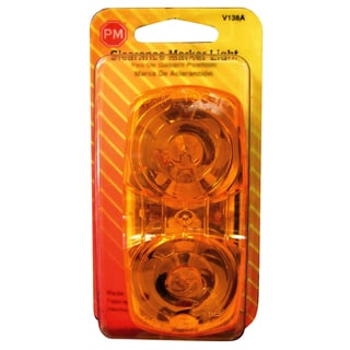 PM V138A Amber Rectangular 2 Bulb Clearance Marker Light