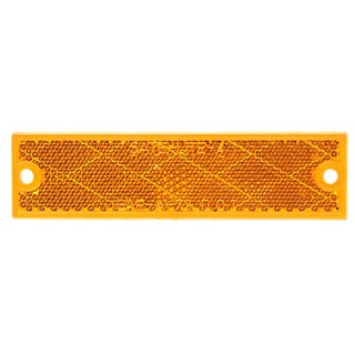 PM V487A 2-count Amber Rectangular Reflector