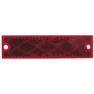 PM V487R 2-count Red Rectangular Reflector