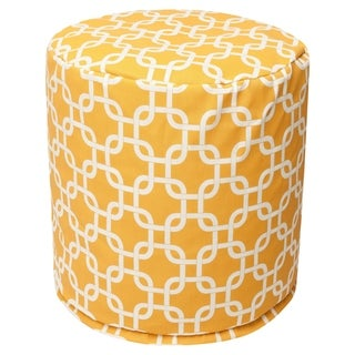 "Majestic Home Goods Links Indoor / Outdoor Ottoman Pouf 16"" L x 16"" W x 17"" H"