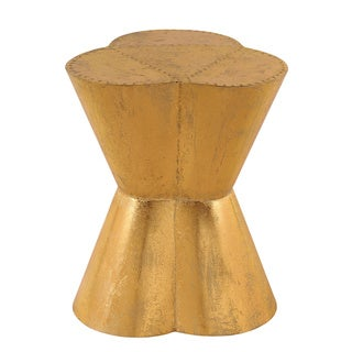 Gold Metal Indoor/Outdoor Side Table or Stool