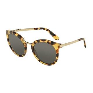D&G Women's DG4268 512/87 Havana Plastic Round Sunglasses