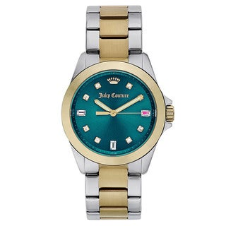 Juicy Couture Two-tone Gold With Green Dial Watch