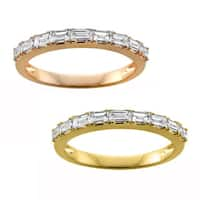 Montebello Jewelry 14k Gold 1/2ct TDW White Diamond Pave-set Wedding Band