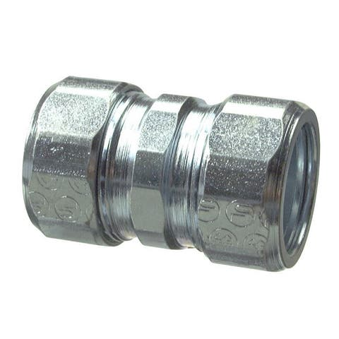 Halex 63615 1-1/2 in. Galvanized Steel Rigid Compression Coupling