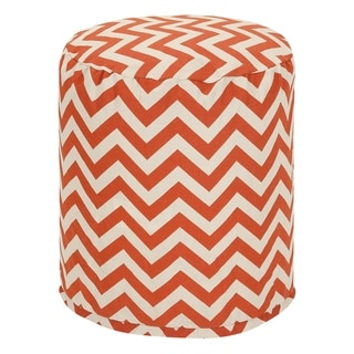 """Majestic Home Goods Chevron Indoor / Outdoor Ottoman Pouf 16"""" L x 16"""" W x 17"""" H"""