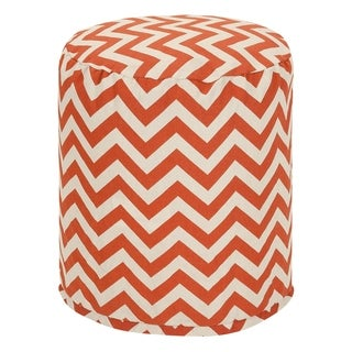 Majestic Home Goods Chevron Pouf Outdoor Indoor