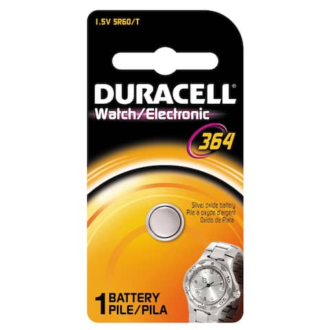 Duracell D364BPK08 1.5 V Silver Oxide Duracell 364 Watch & Electronics Battery