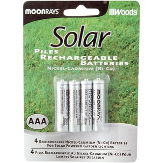 Moonrays 97126 AAA Rechargeable NiCd Batteries For Solar Powered Units