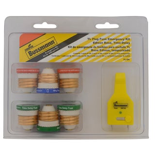 Bussmann Plug Fuse Kit 30 amps 125 volts 1-3/16 in. Dia. x 1-5/16 in. L 7 pk For Small Motor And Inductive Load Circuits