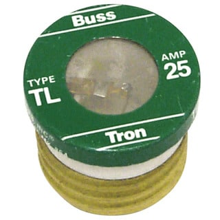 Bussman TL-25PK4 25 Amp Time Delay Plug Fuses 4-count