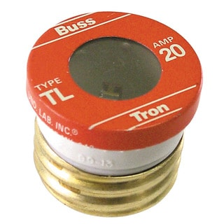 Bussman TL-20PK4 20 Amp Time Delay Plug Fuses (Pack of 4)