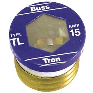 Bussman TL-15PK4 15 Amp Time Delay Plug Fuses 4-count