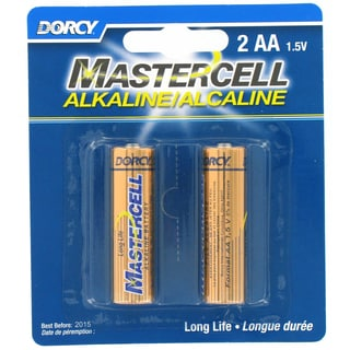 Dorcy 41-1622 AA Mastercell Alkaline Batteries 2-count
