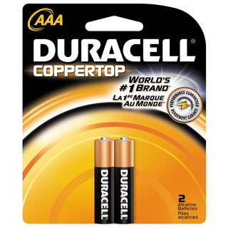 Duracell 4133315261 AAA Cell Duracell Coppertop Alkaline Batteries 2-count