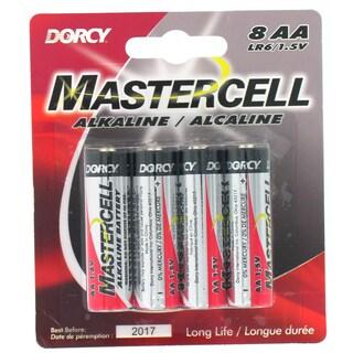 Dorcy 41-1628 AA Mastercell Alkaline Batteries 8-count
