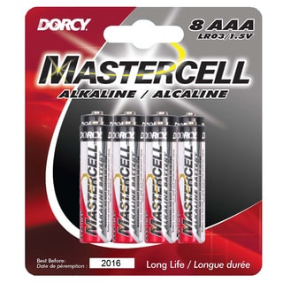 Dorcy 41-1638 AAA Mastercell Alkaline Batteries 8-count