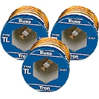 Bussman BP/TL-15 15 Amp Time Delay Plug Fuses 3-count