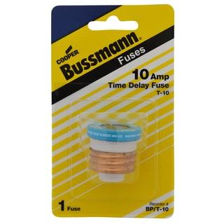 Bussman BP/T-10 10 Amp Dual-Element Time-Delay Edison Base Plug Fuse