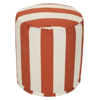 Majestic Home Goods Vertical Stripe Pouf Outdoor Indoor