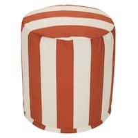 """Majestic Home Goods Vertical Stripe Indoor / Outdoor Ottoman Pouf 16"""" L x 16"""" W x 17"""" H"""