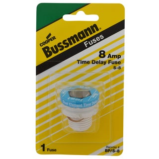 Bussman BP/S-8 8 Amp Dual Element Time-Delay Rejection Base Plug Fuse