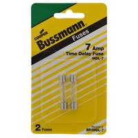 Bussmann  Time Delay Glass Fuse  7 amps 250 volts 1/4 in. Dia. x 1-1/4 in. L 2 pk For Electronic Circuits