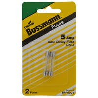 Bussman BP/MDL-5 5 Amp Glass Tube Time Delay Fuse 2-count