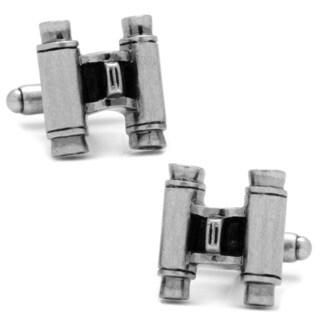 Silver Overlay Binoculars Cufflinks