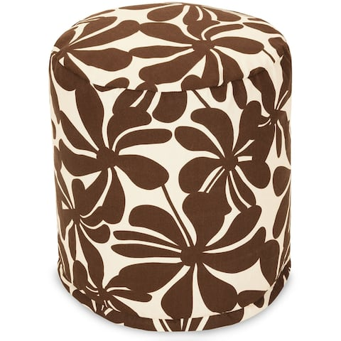 """Majestic Home Goods Plantation Indoor / Outdoor Ottoman Pouf 16"""" L x 16"""" W x 17"""" H"""